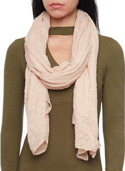 Long Gauze Scarf - BLUSH - 1132067446082