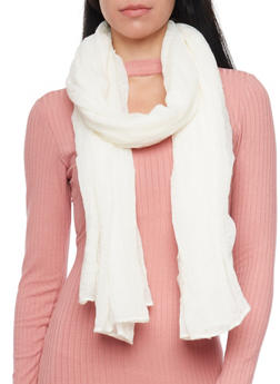 Long Gauze Scarf - W WHITE - 1132067446082
