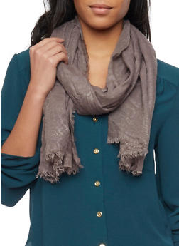 Linen Scarf with Subtle Animal Print - GRAY  LIGHT - 1132067446084