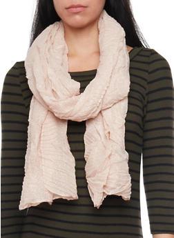 Crinkled Shimmer Knit Scarf - MAUVE - 1132067446085