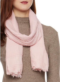Solid Scarf with Fringe - BLUSH - 1132067446088