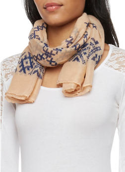 Lightweight Printed Square Scarf - 1132067447024