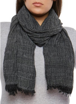 Pleated Fringe Scarf - 1132067448016