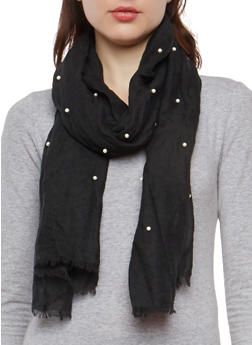 Faux Pearl Scarf - 1132067448038