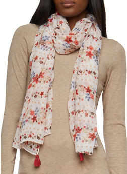 Lightweight Floral Scarf - 1132074398202