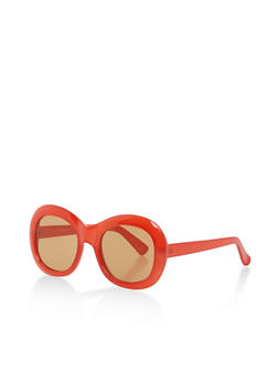 Thick Framed Oval Sunglasses - 1133004265499