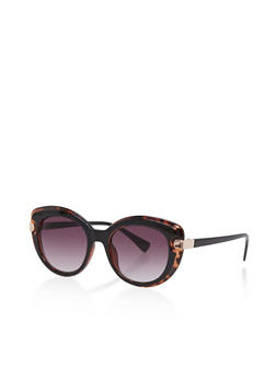 Two Tone Cat Eye Sunglasses - 1133004269175