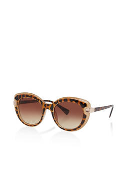 Two Tone Cat Eye Sunglasses - 1133004269175