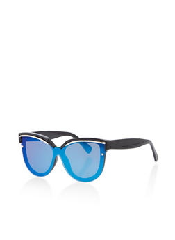Mirrored Cat Eye Shield Sunglasses - 1133071213053