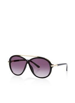 Criss Cross Top Bar Sunglasses - 1133073217193
