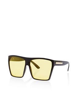 Plastic Shield Sunglasses - 1134004261215