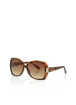 Oversized Sunglasses with Metallic Accent - 1134004264833