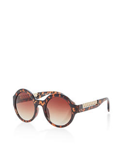 Round Chain Arm Detail Sunglasses - 1134004265517