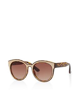 Metal Trim Sunglasses - 1134056178413