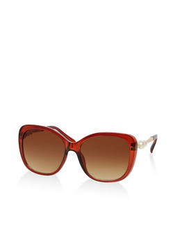 Faux Pearl Detail Sunglasses - 1134071211003