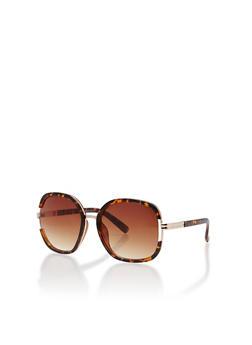 Oversized Metallic Lined Sunglasses - 1134071213045