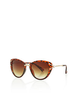 Metal Accented Cat Eye Sunglasses - 1134071219030