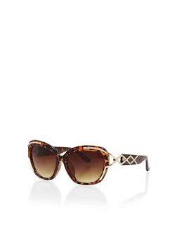 Sunglasses with Metallic Cut Out Details - 1134071219796