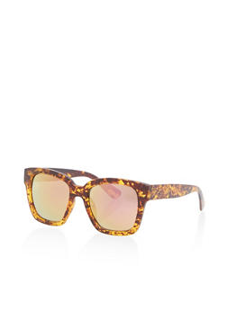 Mirrored Lens Two Tone Sunglasses - 1134071222130