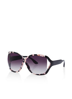 Plastic Cutout Sunglasses - 1134073214033