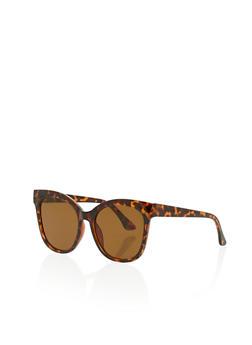 Oversized Retro Square Sunglasses - 1134073215311