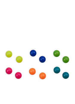 Multi Color Ball Stud Earrings - 1135003200110
