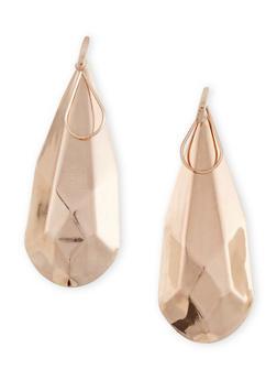 Geometric Tear Drop Earrings - 1135003201158
