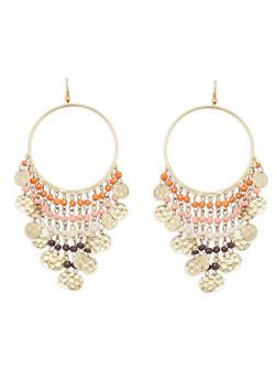 Beaded Fringe Earrings - 1135018437290