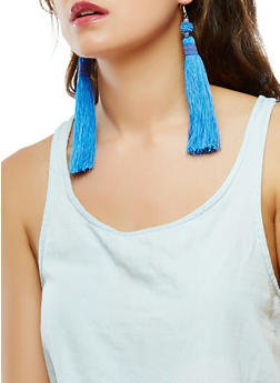 Large Tassel Earrings - 1135018438321