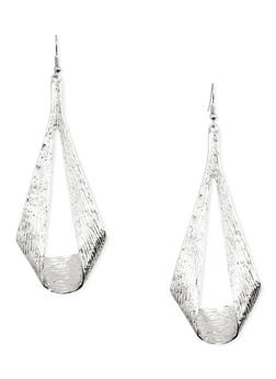 Etched Loop French Wire Earrings - 1135035151214