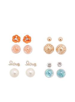 Set of 4 Reversible Stud Earrings - 1135035152520