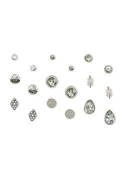 Set of 9 Assorted Stud Earrings - 1135035152548