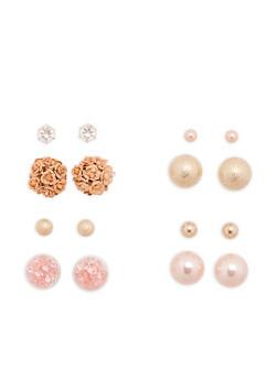 Set of 4 Reversible Stud Earrings - 1135035152551