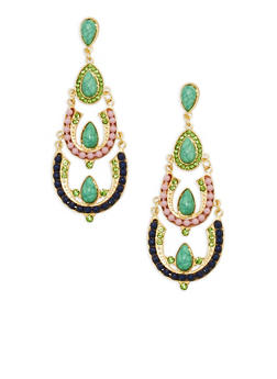 Beaded Chandelier Earrings - 1135035154182