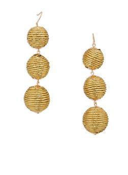 Linear Ball Drop Earrings - 1135035155146