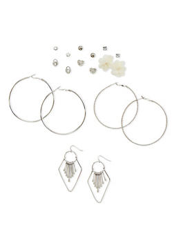 Set of 9 Assorted Earrings - 1135035157424