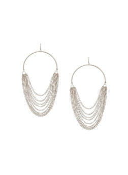 Multi Layered Chain Earrings - 1135044094809