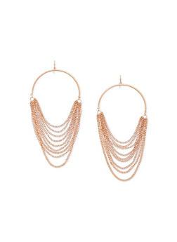 Multi Layered Chain Earrings - 1135044094809