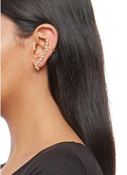 Rhinestone Ear Cuff - 1135057690291