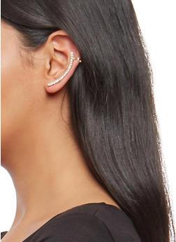 Rhinestone Ear Cuff - 1135057690607