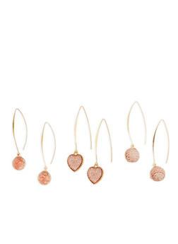 Rhinestone Sequin Threader Earrings - 1135057693975