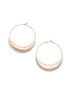 Quarter Moon Loop Earrings - 1135062811518