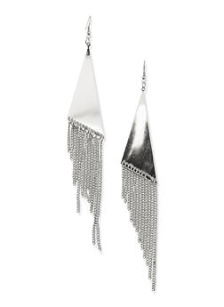 Solid Triangle Fringe French Wire Earrings - 1135062811955