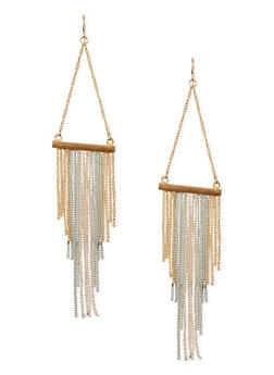 Triangle Fringe French Wire Earrings - 1135062812384