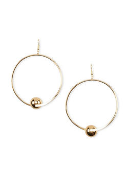 Hoop Ball French Wire Earrings - 1135062816503