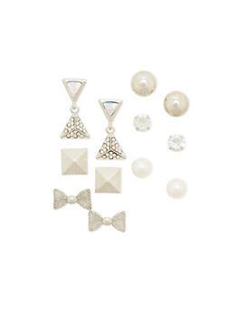 Set of 6 Assorted Stud Earrings - 1135062920520