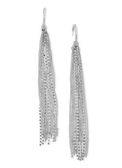 Rhinestone and Fringe Drop Earrings - 1135062920751