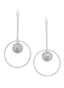 Chandelier Earrings with Encircled Mini Disco Ball - 1135062921058