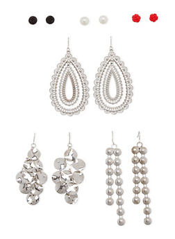 Set of 6 Assorted Stud and Drop Earrings - 1135062921503