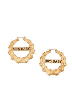 90s Baby Metallic Hoop Earrings - 1135062922263